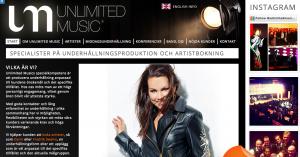Unlimited Music - Underhållning, Artistbokning, Fester, Event
